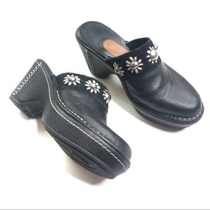Ariat Studded Black Leather Clogs Size 8